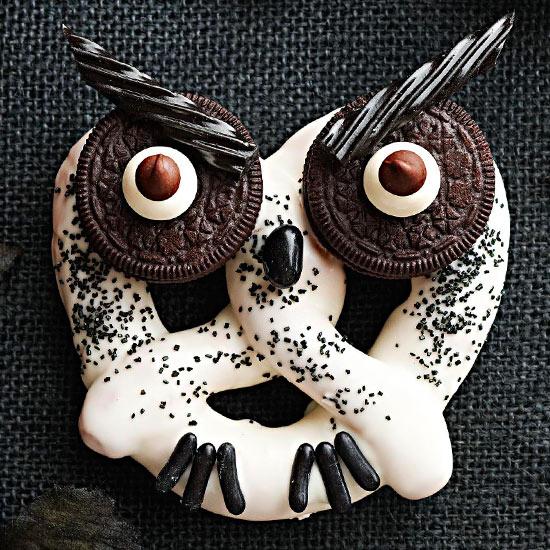 Haunted Hooting Owl Pretzels