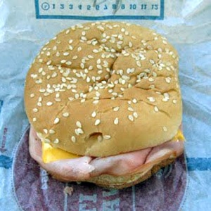 The Burger King Ham & Cheese