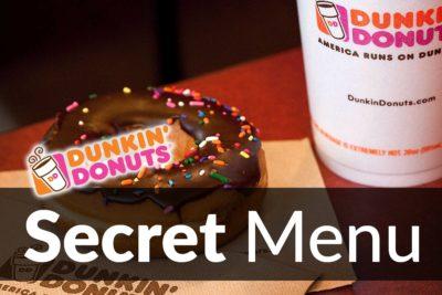 Dunkin' Donuts Secret Menu