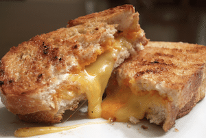 Grilled Cheese Sandwich (add bacon too)