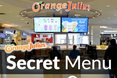 Orange Julius Secret Menu
