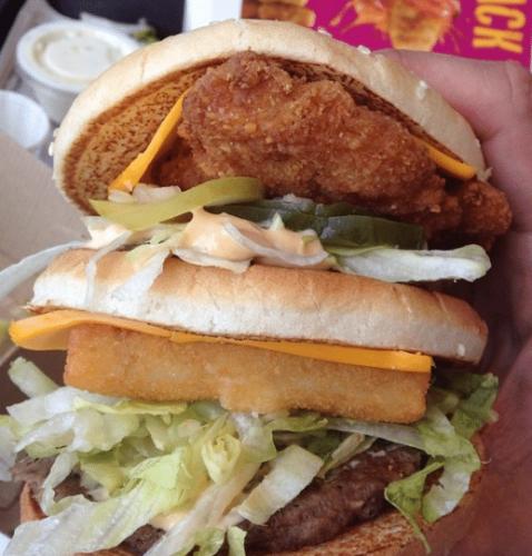The Land, Sea, and Air Burger