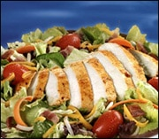 Bacon Ranch Salad with Grilled Chicken (with Low Fat Sesame Ginger Dressing)