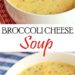 Broccoli Cheese Soup (Bowl)