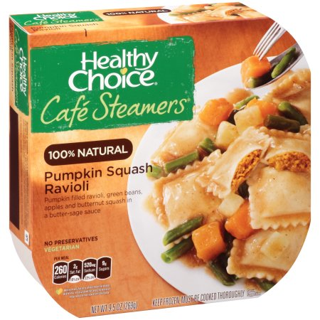 Cafe Steamers Pumpkin Squash Ravioli from Healthy Choice | Nurtrition & Price