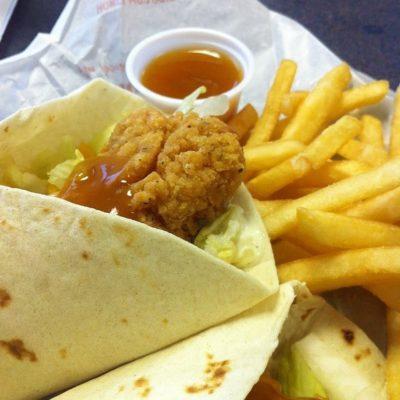 Crispy Chicken Snack Wrap (No Sauce)