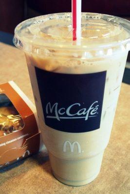 Iced Coffee with Sugar Free Vanilla Syrup (Medium)