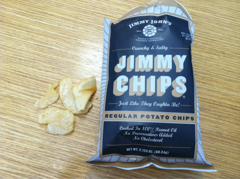 Regular Chips from Jimmy John's | Nurtrition & Price