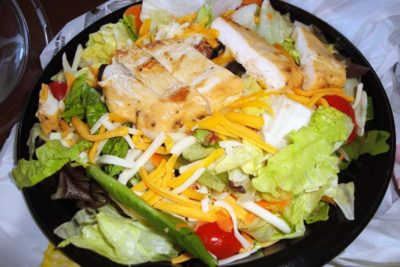 Bacon Ranch Salad with Grilled Chicken