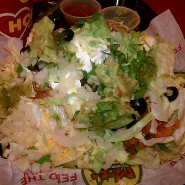 Billy barou nachos tofu from moe s southwest grill for Moe s fish and chicken