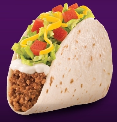 Soft Taco Supreme - Beef from Taco Bell | Nurtrition & Price