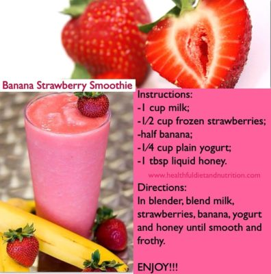 Strawberry Banana Smoothie (Medium)