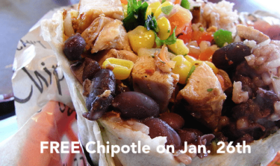 Free Chipotle Jan. 26th, 2015 — Here are the OFFICIAL Details [U.S. + Canada]